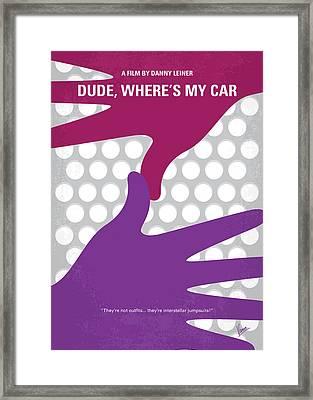 No654 My Dude Wheres My Car Minimal Movie Poster Framed Print by Chungkong Art