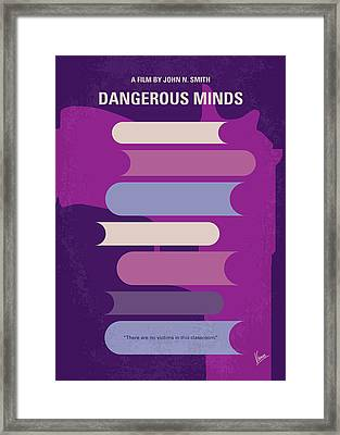 No655 My Dangerous Minds Minimal Movie Poster Framed Print by Chungkong Art
