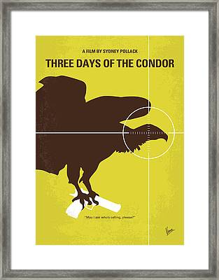 No659 My Three Days Of The Condor Minimal Movie Poster Framed Print by Chungkong Art