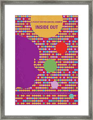 No664 My Inside Out Minimal Movie Poster Framed Print by Chungkong Art