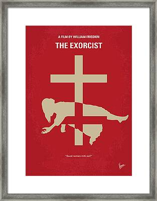 No666 My The Exorcist Minimal Movie Poster Framed Print by Chungkong Art