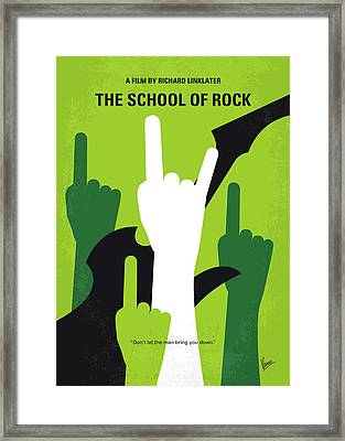 No668 My The School Of Rock Minimal Movie Poster Framed Print by Chungkong Art