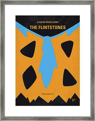 No669 My The Flintstones Minimal Movie Poster Framed Print by Chungkong Art