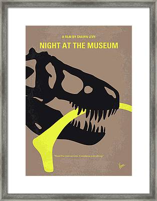 No672 My Night At The Museum Minimal Movie Poster Framed Print by Chungkong Art