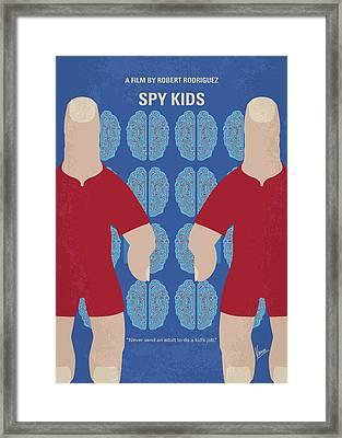 No681 My Spy Kids Minimal Movie Poster Framed Print by Chungkong Art