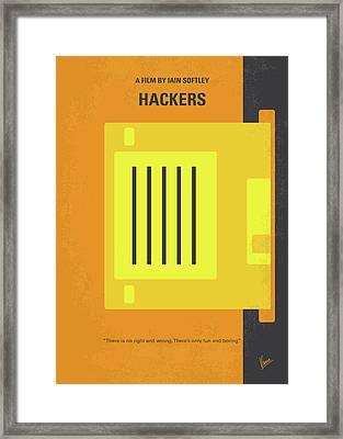 No684 My Hackers Minimal Movie Poster Framed Print by Chungkong Art
