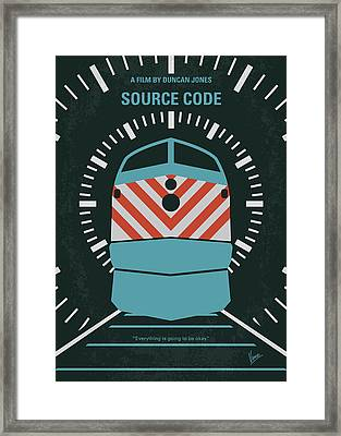 No685 My Source Code Minimal Movie Poster Framed Print by Chungkong Art