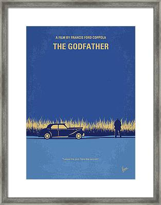 No686-1 My Godfather I Minimal Movie Poster Framed Print by Chungkong Art