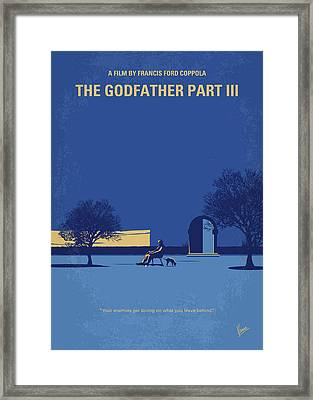 No686-3 My Godfather IIi Minimal Movie Poster Framed Print by Chungkong Art