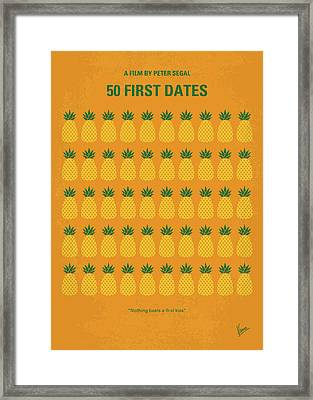 No696 My 50 First Dates Minimal Movie Framed Print by Chungkong Art