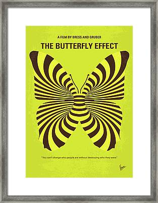 No697 My The Butterfly Effect Minimal Movie Poster Framed Print by Chungkong Art