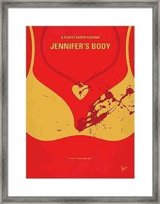 No698 My Jennifers Body Minimal Movie Poster Framed Print by Chungkong Art