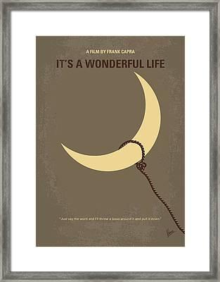 No700 My Its A Wonderful Life Minimal Movie Poster Framed Print by Chungkong Art