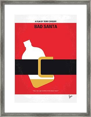 No702 My Bad Santa Minimal Movie Poster Framed Print by Chungkong Art