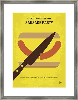 No704 My Sausage Party Minimal Movie Poster Framed Print by Chungkong Art