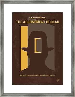 No710 My The Adjustment Bureau Minimal Movie Poster Framed Print by Chungkong Art