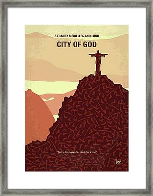 No716 My City Of God Minimal Movie Poster Framed Print by Chungkong Art