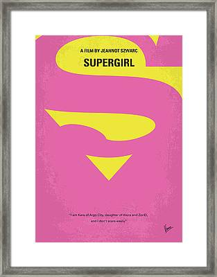 No720 My Supergirl Minimal Movie Poster Framed Print by Chungkong Art