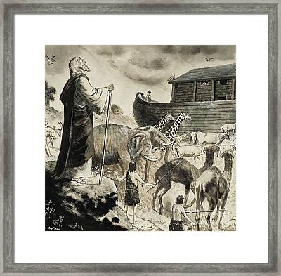 Noah's Ark Framed Print by Clive Uptton