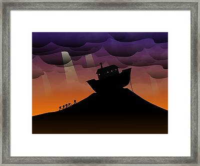 Noah's Ark Discovery Framed Print by Nestor PS