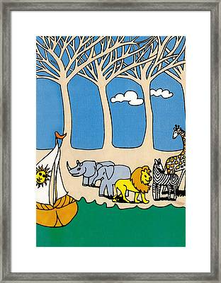 Noah's Ark Framed Print by Genevieve Esson