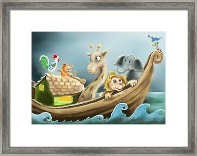 Noah's Ark Framed Print by Hank Nunes