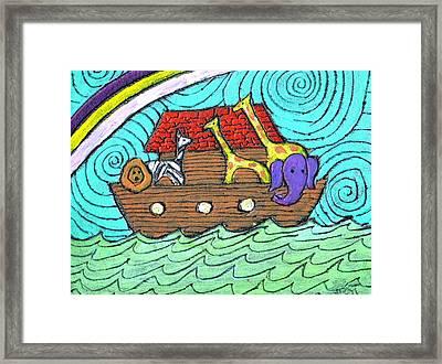Noahs Ark Two Framed Print by Wayne Potrafka