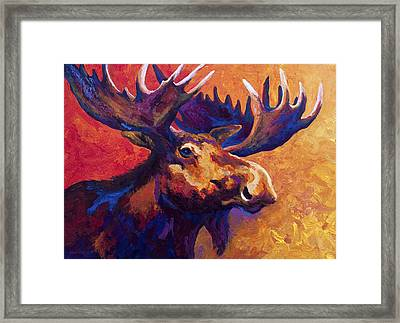 Noble Pause Framed Print by Marion Rose