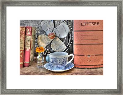 Nobody Writes Letters Anymore Framed Print by Jane Linders