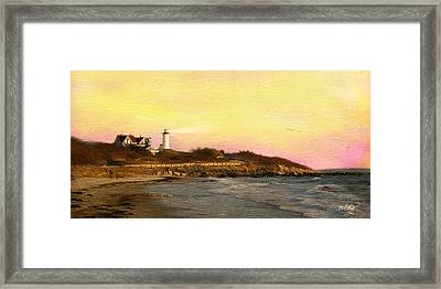 Nobska Light Framed Print by Michael Petrizzo