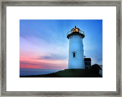 Nobska Point Lighthouse Framed Print by Thomas Schoeller