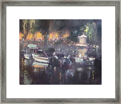 Nocturne At Dilesi Beach Framed Print by Ylli Haruni