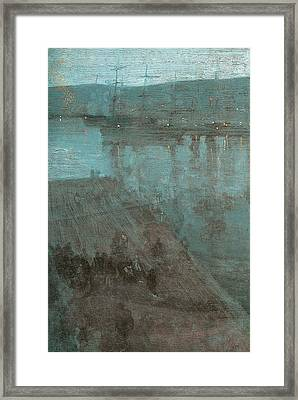 Nocturne In Blue And Gold Valparaiso Framed Print by James Abbott McNeill Whistler