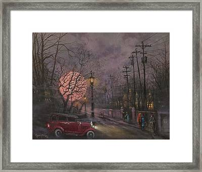 Nocturne In Lavender Framed Print by Tom Shropshire