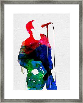 Noel Watercolor Framed Print by Naxart Studio