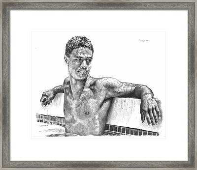 Nohea In The Pool Framed Print by Douglas Simonson