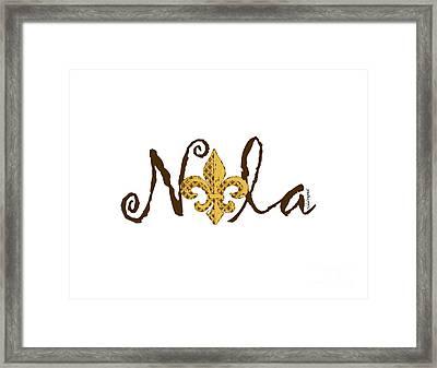 Nola In Brown Framed Print by NolaOriginals