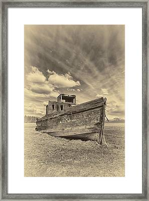 Nomad Sepia Framed Print by Ed Boudreau