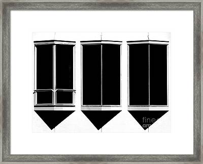 None More Black Framed Print by CML Brown