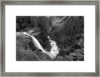Nooksack Falls Landscape - Back And White Framed Print by Adam Jewell
