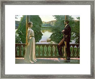 Nordic Summer Evening Framed Print by Sven Richard Bergh