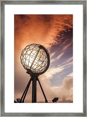 Nordkapp Landmark Framed Print by Sandra Rugina