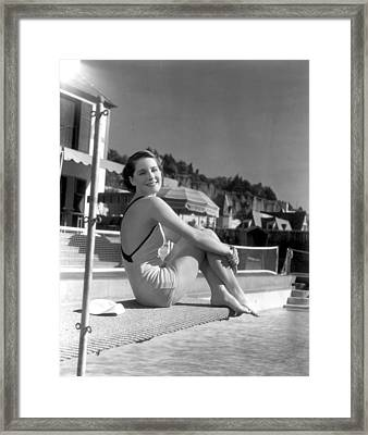 Norma Shearer, Mgm Photograph Framed Print by Everett