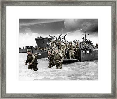 Normandy Landings Framed Print by American School