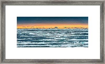 North Atlantic Sunset - Seascape Photograph Framed Print by Duane Miller