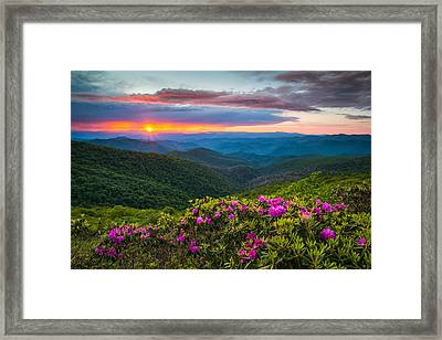 North Carolina Blue Ridge Parkway Landscape Craggy Gardens Nc Framed Print by Dave Allen