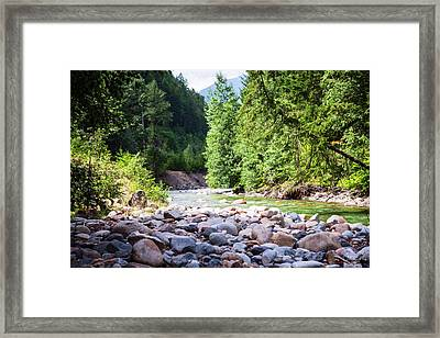 North Cascades Rivers And Rocks Landscape Photography By Omashte Framed Print by Omaste Witkowski