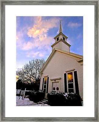 North Country Church Framed Print by Elizabeth Tillar