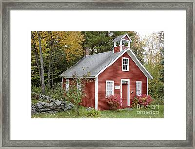North District School House - Dorchester New Hampshire Framed Print by Erin Paul Donovan
