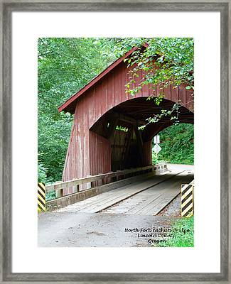North Fork Yachats Bridge 2 Framed Print by Methune Hively